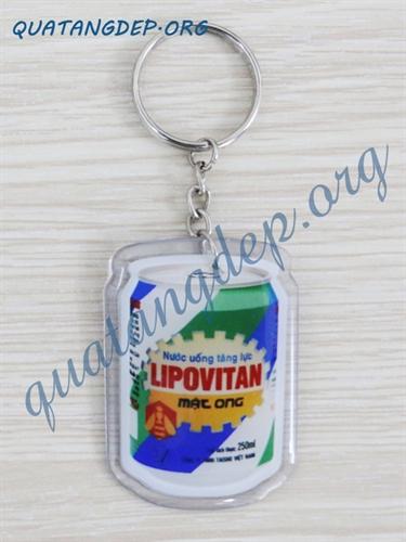 Móc khóa nhựa dẻo LIPOVITAN
