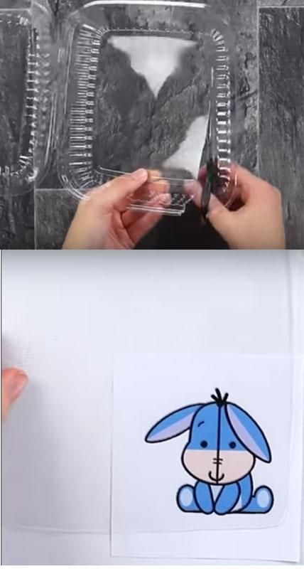 hướng dẫn làm móc khóa bằng vỏ nhựa bước 1