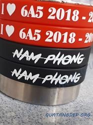 Vòng tay cao su in thường Nam Phong - 6a5